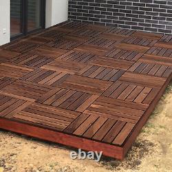 Entrelacement En Bois Cliquez Sur Les Tuiles De Plate-forme Extérieure Balcon Patio En Bois Jardin