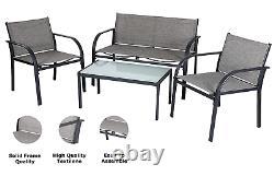 Evre Valencia Outdoor Garden Furniture Set Patio Conservatory Table De 4 Pièces