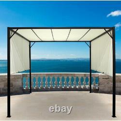 Extérieur Auvent Canopée Sun Shade 3mx3mx2.3m Patio Garden Gazebo Toit Réglable