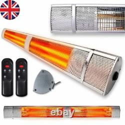 Extérieur Électrique Patio Heater Garden Halogen 2500w Wall Mounted Garage Bathroom