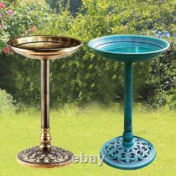 Extérieur Patio Garden Bird Bath Traditional Ornament Pedestal Birds Water Bowl