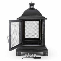 Fire Pit Patio Heaters Bbq Outdoor Garden Basket Poêle Lanterne Cheminée Antique