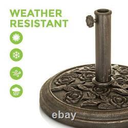 Fonte En Fer Parapluie Rond Parasol Base Stand Patio Outdoor Garden Heavy Duty 9kg