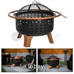 Foyer Extérieur Bbq Firepit Brazier Garden Round Stove Patio Heater Copper Camp
