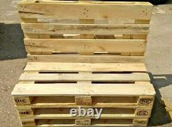 Garden Bench Outdoor 3 Seater Euro Pallet Recycled Rustic Wooden Patio Furniture
