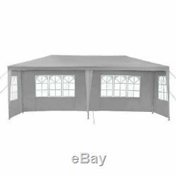 Gazebo Chapiteau Tente Avec Côtés Jardin Étanche Patio Extérieur Canopy 3x6