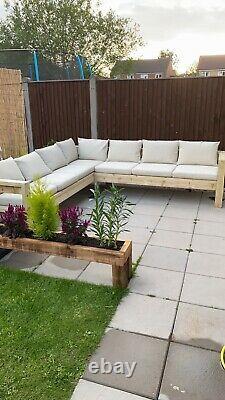 Grand Jardin Extérieur En Bois De Sofa/patio, Tailles Sur Mesure