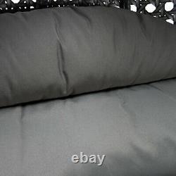 Grey Rattan Egg Cocoon Swing Garden Chaise Canapé Settee Patio Meubles De Plein Air