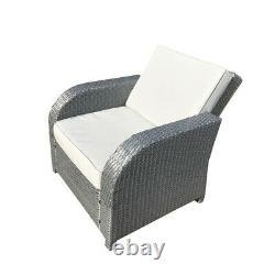 Gris Rattan Garden Meubles Patio Canapé Chaise Set Conservatoire Alfresco Outdoor