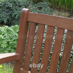 Henley 3 Sièges Banc Chunky Qualité Bois Dur Jardin Patio Meubles Livraison Gratuite