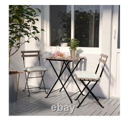 Ikea Trano 3 Pièces Pliant Métal Extérieur Jardin Patio Meubles Table Et Chaises