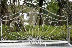 Jardin Banc Siège Patio Meubles Pliables En Métal Vintage Antique Extérieur
