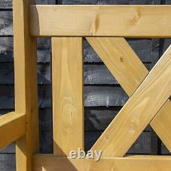 Jardin De Stockage Banc En Bois Patio Boîte De Siège Meubles D'extérieur 2 Seater