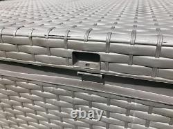 Jardin En Plastique Boîte De Rangement Coussin En Rotin Imperméable Poitrine Plate-forme Patio Extérieur