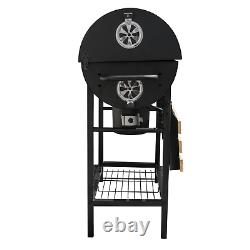 Jardin Extérieur Classic Bbq Smoker Grill Black Patio Pliable Portable