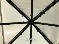 Jardin Gazebo Ecru Party Shelter Patio Ombre Extérieur Sun Canopy 3m X 3m