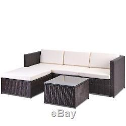 Jardin Meubles En Rotin Set 5 Pcs Patio Extérieur Salon Sofa Set Table Basse