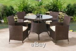 Jardin Meubles En Rotin Set Chaises Sofa Table Conservatory Patio Extérieur
