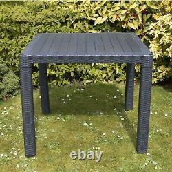 Jardin Patio Meubles Ensemble 4 Chaises Table Café Bistro Set Rattan Style Outdoor