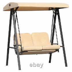 Jardin Patio Swing Chair 2 Seater Swing Hammock Outdoor Cushioned Banc Siège