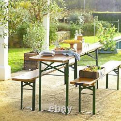 Jardin Pliant Table & Chaise Set Extérieur Patio Bière Salle À Manger Banc De Table De Café Royaume-uni