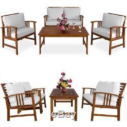 Jardin Salon Bois Portier Patio Meubles De Jardin Table Chaises Set Banc