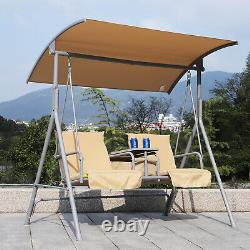 Jardin Swing Chair 2 Seater Hammock Patio Extérieur Coopy Coussin Boitier