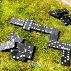 Jeu Extérieur Géant De Patio De Jardin De Dominos Pour Des Enfants Et Amusement D'été De Famille
