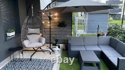 Keter Brand New Rattan Garden Set Corner Canapé Table Extérieure Patio Conservatoire