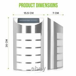 Led 5 Sans Fil À Énergie Solaire Mur De Sécurité Lumière De Jardin Lampe Patio Extérieur Chemin