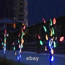 Lumières Extérieures De Noël De Feuille D'arbre De Branche Solaire Patio Extérieur De Pelouse De Jardin 60 Lampe Led