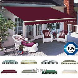 Manuel Auvent Auvent Canopée Extérieur Patio Jardin Sun Shade Shelter Top Fabric