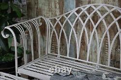 Metal Garden Banc Patio Siège Meubles Antique Pliable Vintage Outdoor