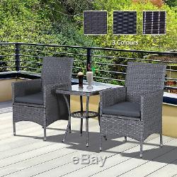 Meubles En Rotin Bistro Set Table De Jardin Chaise D'extérieur Patio Conservatoire Wicker