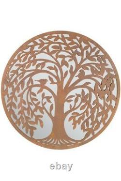 Miroir Rond Extra Grand Arbre De Vie Jardin Miroir Extérieur 100x100 CM 3ft3x3ft3