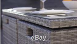 Mobilier De Jardin Extérieur 8 Places Patio Rotin Cube Set Manger (moins Cher Sur Ebay)