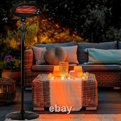 Neo 2kw Electric Quartz Outdoor Standing Waterproof Garden Patio Chauffage