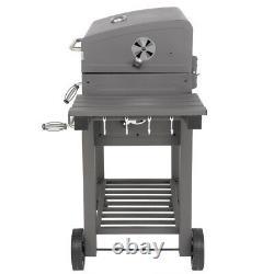 Nouveau Barbecue De Charbon Indicateur De Chaleur Barbecue Jardin Extérieur Patio Grills Grey Uk