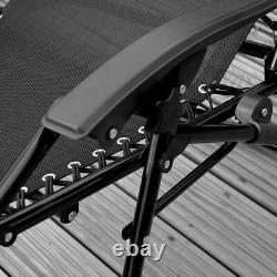 Nouvelle Chaise De Jardin Inclinable Textile Extérieur Patio Meubles Pliant Sun Lounger