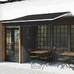 Outsunny 3 X 2m Cadre Extérieur Aluminium Auvent Jardin Abri Patio Canopy Grey