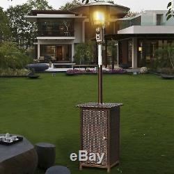 Outsunny De L'extérieur Jardin Patio Chauffe-rotin Wicker Autoportant Bbq
