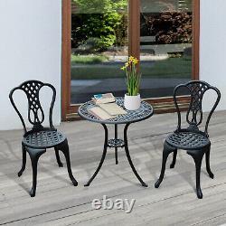 Outsunny Garden Bistro Set Outdoor Table Chairs Aluminium Patio Lawn Furniture