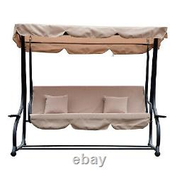 Outsunny Garden Swing Chair Canopy Bed 3 Seater Patio Hammock Banc Lounder Nouveau