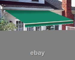 Patio Awning Manuel Garden Canopy Sunshade Refuge Rétractable Outdoor Shade Royaume-uni