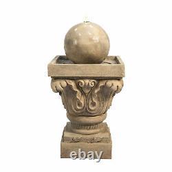Peaktop Outdoor Garden Patio Decor Fontaine D'eau Led Caractéristique Vfd8405-uk