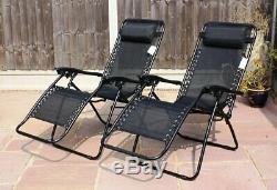 Plage Chaise Lit Chaise Longue De Jardin Patio Extérieur Pliant Textoline Sun Lounger