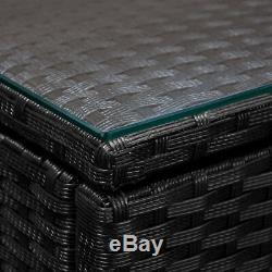 Polyrotin Canapé D'angle Meubles De Jardin Portier Conservatoire Patio Weave