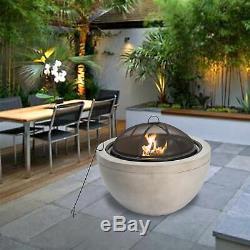 Ppeaktop Extérieur Jardin Round Patio À Bois Foyer Hr30180aa