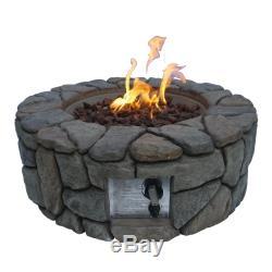 Ppeaktop Extérieur Jardin Round Patio Bowl Propane Fire Pit Burner Hf09501aa-uk
