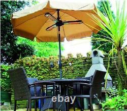 Prem-i-air 2 Kw Parasol Pliant Aluminium Jardin Extérieur Chauffe-patio Chauffage